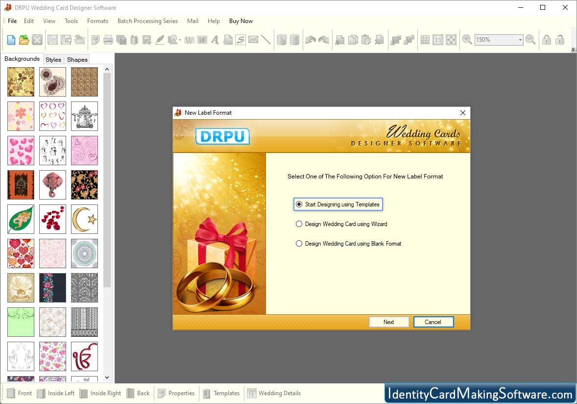 Screenshots Of Wedding Card Making Software To Design Marriage Invitation Card